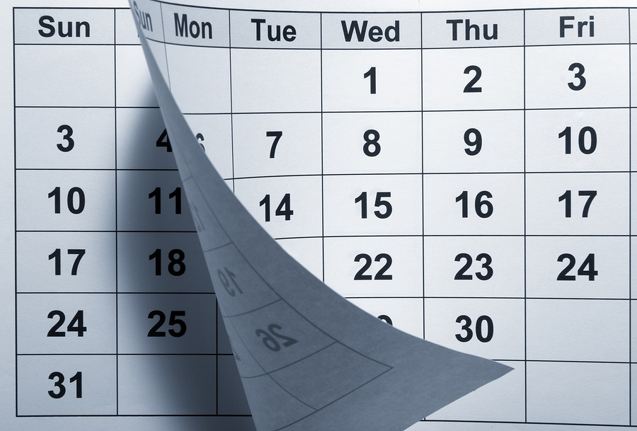 Calendar to schedule shredding service