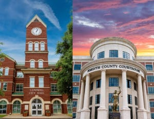 Cumming, Georgia town hall and Forsyth County courthouse